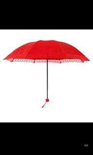 Wedding red umbrella