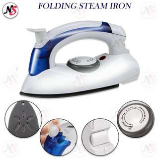 Travel Folding Steam Iron w/ Variable Temperature Control