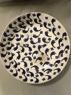 Blue and white serving bowl plate ( Qing dynasty period