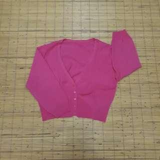 Cardigan cropped Pink