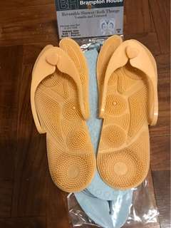 Reversible shower/ bath/pool thongs/slippers (blue & orange colour)