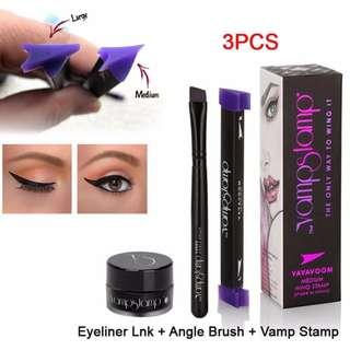 100% Original Vamp Stamp Waterproof Eyeliner 3 Pcs Set long lasting Eyeliner