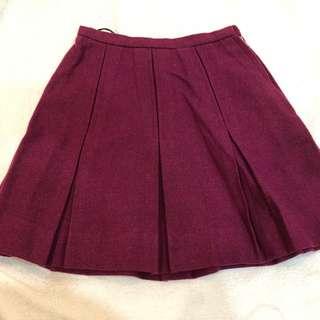 Vintage purple wool skirt