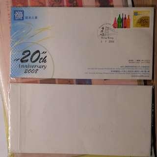 紐約人壽香港,20周年紀念首日封