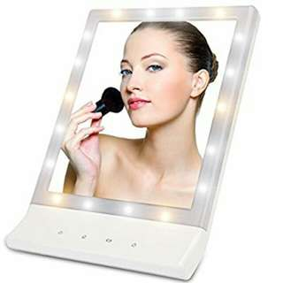LED Lighted Makeup Mirror - Lighted Vanity Makeup Mirror, Smart Touch Cosmetic Mirror with Light (18 LED) , Wall Mount