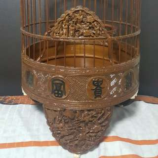 8.5 inches fine handcrafted puteh cage
