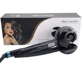 Professional Ceramic LCD Automatic Hair Styling Curler, Perfect Curl