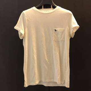 Jack wills pocket tee size UK6 (cream)