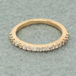 Michael Kors Sample Ring 玫瑰金色閃石戒指 size US7 直徑1.7 cm