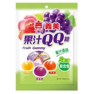 義美 綜合果汁QQ糖 糖果 軟糖 點心 零食 水蜜桃 葡萄 草莓 水果口味