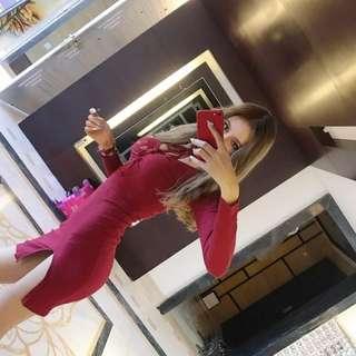 New red dress women 女裝裙新