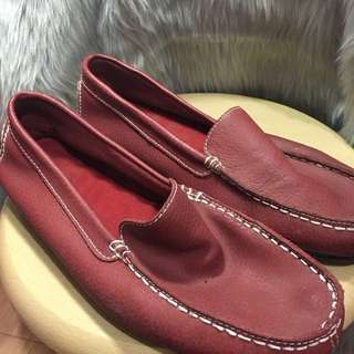 Red Loafer with Studs