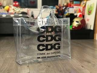 CDG 10周年限定透明袋