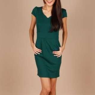 Pearlavish green executive dress