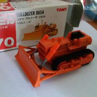 Tomica tomy tomy車 no 70 號 1:87 Bulldozer D65A 日本製