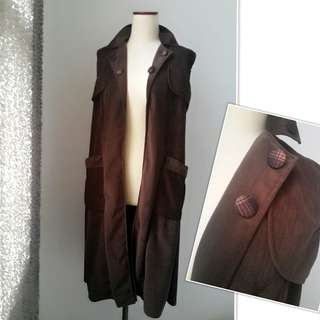 COAT CARDIGAN BLAZER KECE BROWN