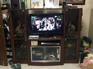 TV RACK WITH CABINET