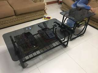 CEBTER TABLE & SIDE TABLE