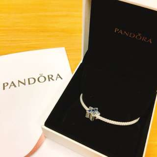 Pandora 手鏈連星星charm