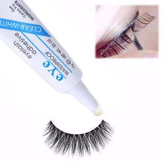 Waterproof False Eyelashes Makeup Glue Eyelash Adhesive Clear White