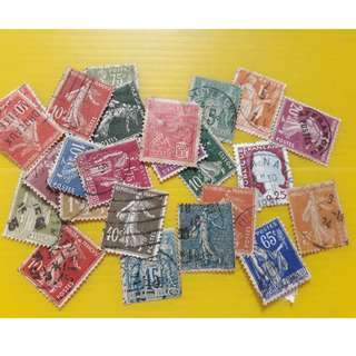 FRANCE - Vintage Collection of 20 Stamps