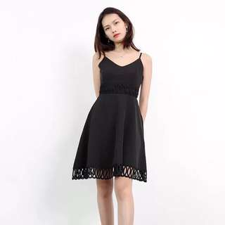 Po: Eyelet intricate dress