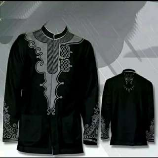 Baju koko black panther gamis kemeja good Quality
