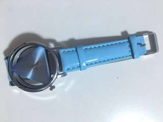 Light blue strap watch