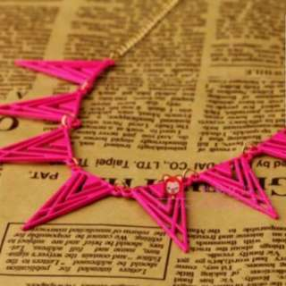 Hot Pink Tribal Statement Necklace