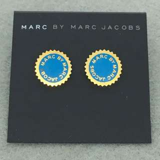 Marc Jacobs Sample Earrings 藍色配金色齒輪耳環