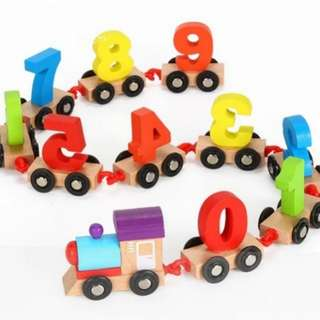 *In Stock* BN Wooden Number (0-9) Train Toy Set