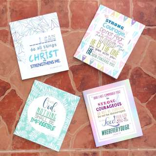 Bible Verse Plain Mini Notebook
