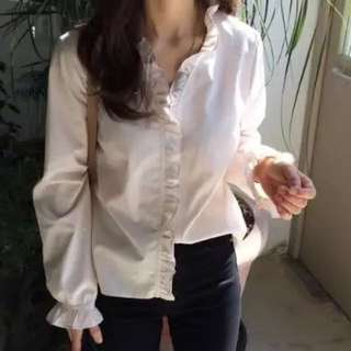 Po: Ulzzang ruffles blouse