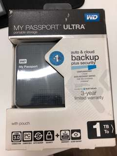 Western Digital WD My Passport Ultra 1TB Brand New