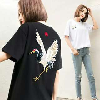 👍👍韓版寬鬆刺繡上衣