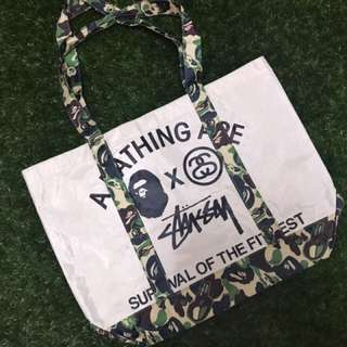 A Bathing Ape X Stussy Tote Bag
