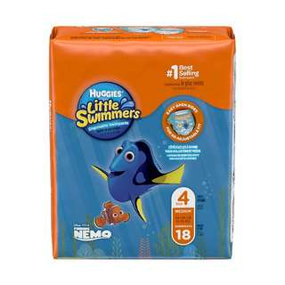 Huggies Little Swimmers Disposable Swimpants, Swim Diaper, Size Medium, 18 Pieces