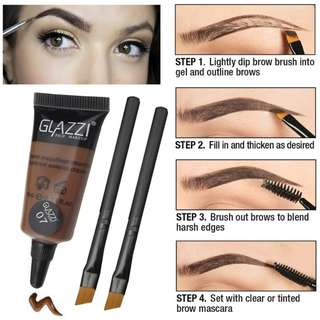 Glazzi prof makeup waterproof Aqua Brow enhancer [ Shade medium brown ]