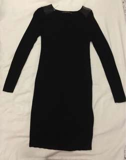 Zara Black Knitted Dress