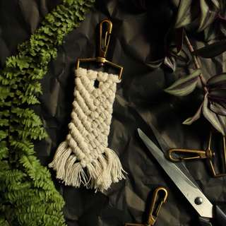 Macrame Key Holder - White