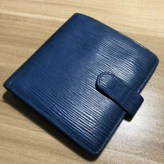LV Blue Epi Leather Wallet