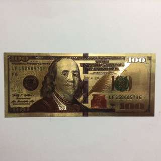 US 100 Dollar Fantasy Note (no gold)