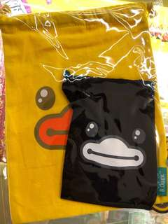B Duck索繩袋(一大一小)