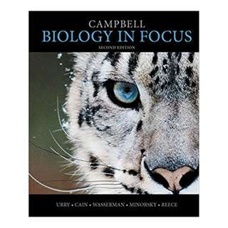 Campbell Biology in Focus 2nd Edition BY Lisa A. Urry (Author),‎ Michael L. Cain (Author),‎ Steven A. Wasserman  (Author),‎ Peter V. Minorsky (Author),‎ Jane B. Reece (Author)