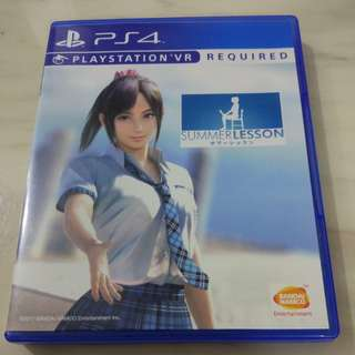 Summer Lesson PlayStation 4 PS4 VR