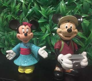 Figurine Mickey Mouse n Minnie Mouse Original Disney