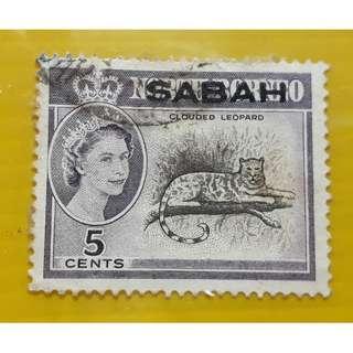Sabah 1964 Animal Clouded Leopard Fine Used