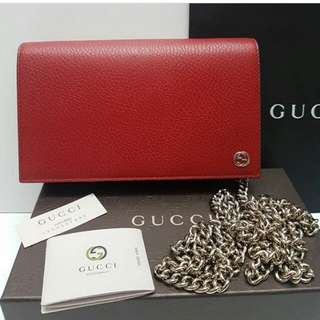 👉NEW - GUCCI WOC Red Leather #d
