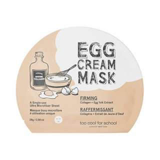 🆕 Too Cool for School ♥️♥️ Egg Cream Mask - Firming 5 sheets