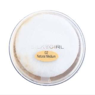 Silkygirl loose powder natural medium 02